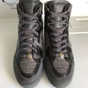 Men's Versace Collection Croco High Top Shoes 42